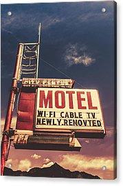Retro Vintage Motel Sign Acrylic Print
