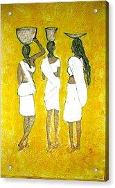 Return From Market Acrylic Print by Narayanan Ramachandran