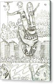 Return Peace Acrylic Print by Robert Wolverton Jr