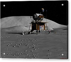 Acrylic Print featuring the digital art Return To The Moon by David Robinson