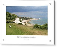 Returning From Cow Gap Acrylic Print