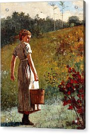 Returning From The Spring Acrylic Print by Winslow Homer
