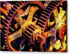 Reusting Gears In Train Yard Acrylic Print