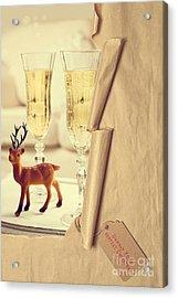 Revealing Christmas Champagne Acrylic Print