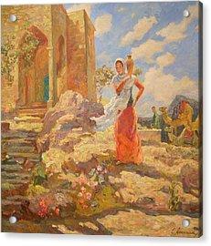 Revekka Near The Well Acrylic Print by Svetlana Anoshkina