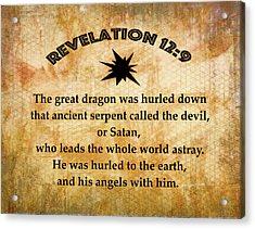 Revelation 12 Great Dragon Acrylic Print