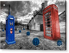 Revenge Of The Killer Phone Box  Acrylic Print
