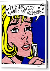 Reverie Acrylic Print by Roy Lichtenstein