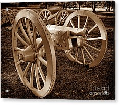 Revolutionary Cannon Acrylic Print by Olivier Le Queinec