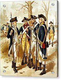 Revolutionary War Infantry Acrylic Print