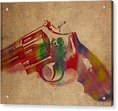 Revolver Watercolor Art Number 1 Acrylic Print
