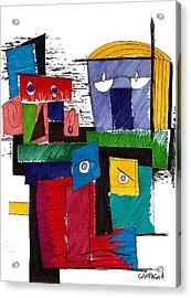 Revue Board Acrylic Print by Teddy Campagna