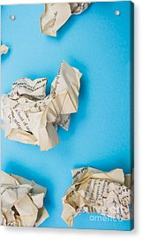 Rewriting The Pages Of History Acrylic Print