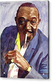 Rex Stewart Jazz Man Acrylic Print by David Lloyd Glover