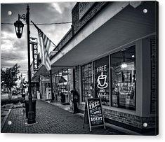 Rexall Sidewalk In Black And White Acrylic Print