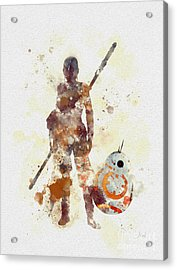 Rey And Bb8 Acrylic Print