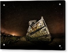 Acrylic Print featuring the photograph Reyes Shipwreck by Everet Regal