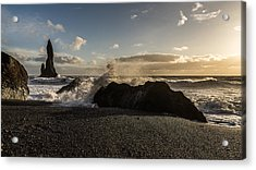 Acrylic Print featuring the photograph Reynisdrangar by James Billings