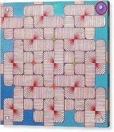 Rfb1006 Variation IIi Diagonal Acrylic Print by Robert F Battles