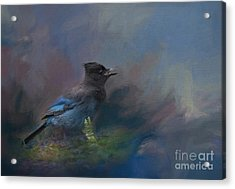 Acrylic Print featuring the painting Rhapsody In Blue by Eva Lechner