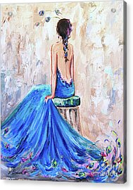 Acrylic Print featuring the painting Rhapsody In Blue by Jennifer Beaudet