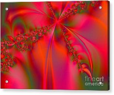 Rhapsody In Red Acrylic Print by Robert ONeil