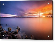 Rhine Bridge Sunset Acrylic Print