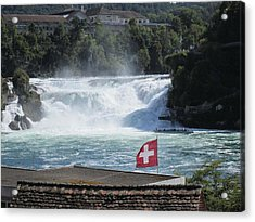 Rhine Falls In Switzerland Acrylic Print