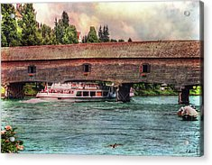 Acrylic Print featuring the photograph Rhine Shipping by Hanny Heim