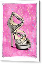 Rhinestone Party Shoe Acrylic Print