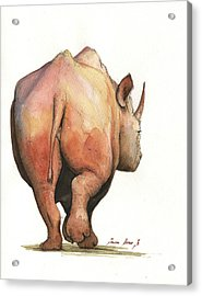 Rhino Back Acrylic Print by Juan Bosco
