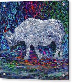 Rhino Glass Work Acrylic Print