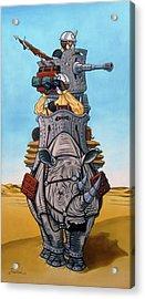 Rhinoceros Riders Acrylic Print