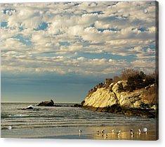 Rhode Island Beach In Winter Acrylic Print