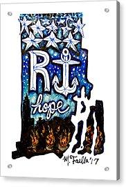 Rhode Island, Hope Acrylic Print