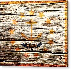Rhode Island State Flag 2w Acrylic Print