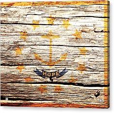 Rhode Island State Flag 3w Acrylic Print