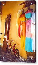 Rhodes Bicycle Acrylic Print by Andrea Simon