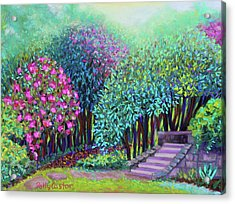 Rhododendrons In The Sunken Garden Acrylic Print