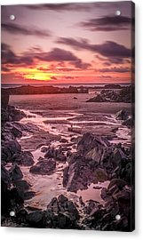 Rhosneigr Beach At Sunset Acrylic Print