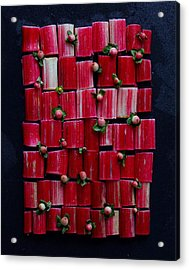 Rhubarb Wall Acrylic Print