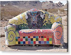 Acrylic Print featuring the photograph Rhyolite Sofa by Walter Chamberlain