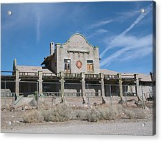 Rhyolite Station Acrylic Print by William Thomas