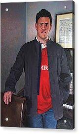 Rhys Meirion Acrylic Print by Harry Robertson