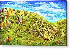 Rhythm Of Primordial Stones Acrylic Print