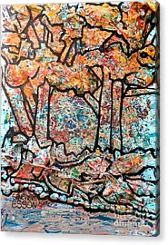 Acrylic Print featuring the mixed media Rhythm Of The Forest by Genevieve Esson