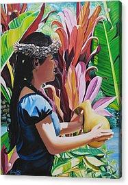 Rhythm Of The Hula Acrylic Print