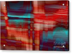 Rhythmic Stripes Acrylic Print
