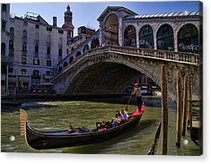 Rialto Bridge In Venice Italy Acrylic Print by David Smith