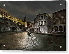 Acrylic Print featuring the photograph Rialto Bridge Venice by John Hix